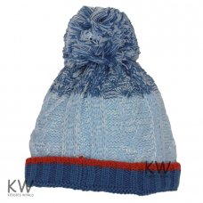 6080: Baby Boys Cable Knit Fleece Lined Beanie (6-18 Months)