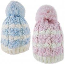 6082B: Baby Stripe, Fleece Lined Beanie (6-18 Months)