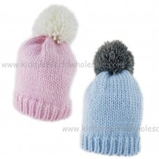 KIDS6129-1: Baby Knitted Pom Hat (0-6 Months)