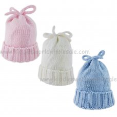 KIDS6130: Baby Cotton Lined Knitted Cuff Hat (0-6 Months)