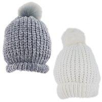 KIDS6180: Infants Chenille Pom Hat (1-4 Years)