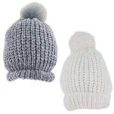 KIDS6180: Infants Chenille Pom Hat (1-4 Years)