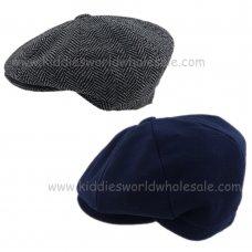 KIDS6185: Wool Baker Boy Cap (1-4 Years)