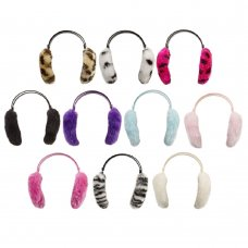 88B003: Girls Assorted Prints Ear Muffs