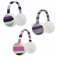88B104: Girls Stripe Ear Muffs