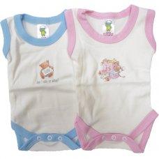 BS1CWM: Motif Cotton Sleeveless Bodysuits (3-18 Months)