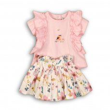 Amazing 4P: 2 Piece Top & Woven Skirt Set (12-24 Months)