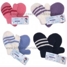 AT652P: Babies Assorted Colours 2 Pack Mittens