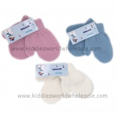 AT65: Babies Assorted Pastel Mittens