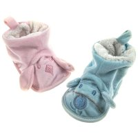 B1191: Velour Fleece Bootees (0-12 Months)
