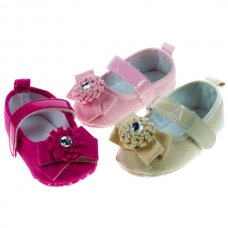B1327: Girls Suede Shoes (0-12 Months)