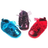 B1348: Plain Rose Trainers (0-12 Months)