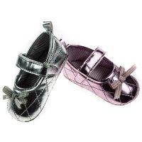 B1373: Girls Shiny PU Shoes (0-12 Months)