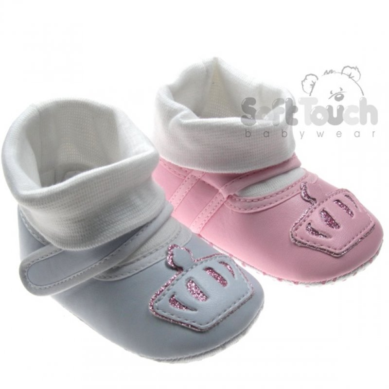 B2078: Girls Shoes with Socks  (0-12 Months)
