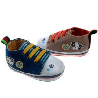 B2140: Boys Cotton Twill Trainers (6-15 Months)