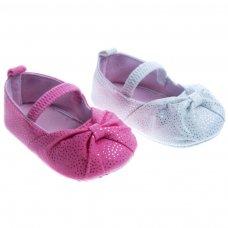 B2152: Spotty Glitter Shoes (0-12 Months)