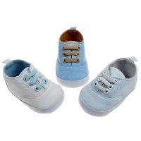 B2166: Plain Cotton Twill Shoes (6-15 Months)