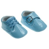 B2172: Light Blue PU Shoes (6-15 Months)