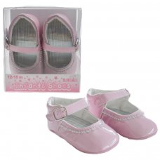B2178-P: PU Shoes w/Velcro Strap (6-15 Months)