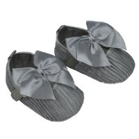 B2226-G: Wrinkled Satin Shoes (6-15 Months)
