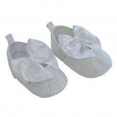 B2226-W: Wrinkled Satin Shoes (6-15 Months)