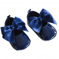 B2228-N: Shiny PU Shoes (0-12 Months)