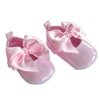 B2228-P: Shiny PU Shoes (0-12 Months)