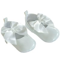 B2228-W: Shiny PU Shoes (0-12 Months)