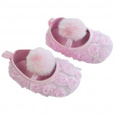 B2230-P Rose Flower Shoes (6-15 Months)