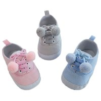 B2240: Plain Cotton Twill Shoes (6-15 Months)