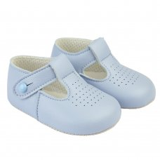 B625: Baby Soft Soled Shoe- Sky (Shoe Sizes: 0-4)