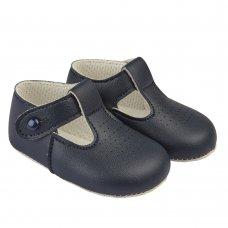 B625: Baby Soft Soled Shoe- Navy (Shoe Sizes: 0-4)