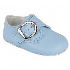 B656: Baby Boys Soft Soled Shoe- Sky (Shoe Sizes: 0-4)
