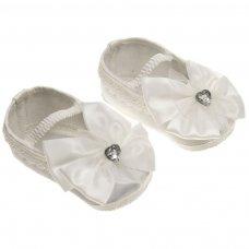 B91-C: Girls Satin Shoes (NB-12 Months)