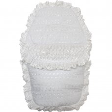 Deluxe Broderie Anglaise Footmuff/ Cosytoe: White