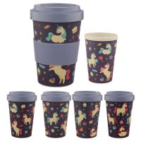 BAMB26: Enchanted Dreams Unicorn Bamboo Reusable Screw Top Travel Cup