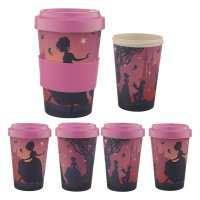 BAMB28: Enchanted Kingdom Princess Bamboo Reusable Screw Top Travel Cup