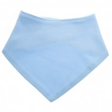 BB503-LB: Plain Blue Bandana Bib