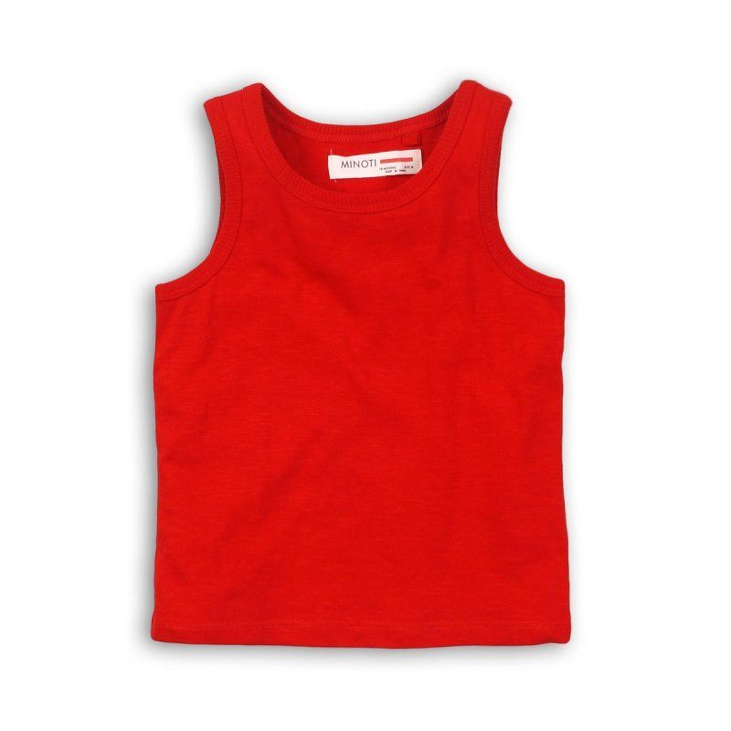 BBS13: red slub vest top (3-13 Years)