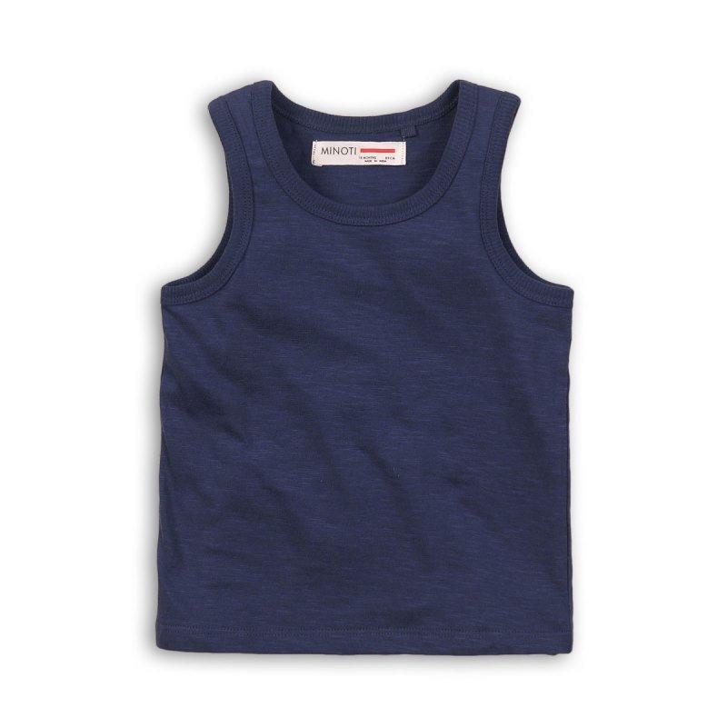 BBS14: navy slub vest top (3-13 Years)