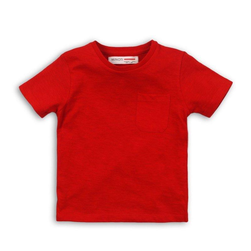 BBS59: red basic slub t shirt (1-3 Years)