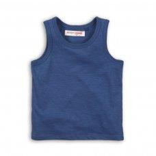 BBS61: blue slub vest top (1-3 Years)