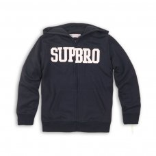 BBS83: sup bro fleece hooded zip  thru (3-13 Years)