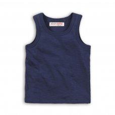 BBS63: navy slub vest top (1-3 Years)
