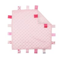 BC15-P: Pink Bubble Comforters with Taggies