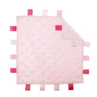 BC16-P: Pink Heart Comforters with Taggies