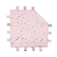 BC20-P: Pink Comforter w/Hearts Print