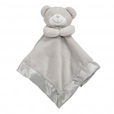 BC21-G: Grey Bear Comforter with Satin Back