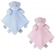 BC25-PB: Pink & Blue Bear Comforter w/Ribbons