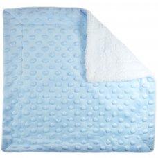 BC50-B: Blue Bubble Sherpa Comforter